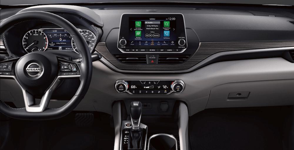 2020 Nissan Altima interior dashboard and steering wheel