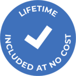 Lifetime Included at no cost badge