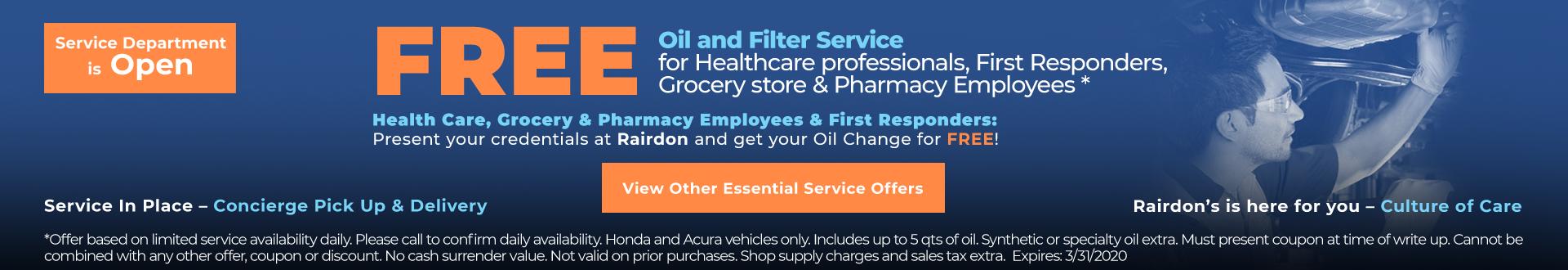 essential service specials