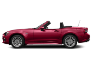 Side view of the FIAT 124 Spider