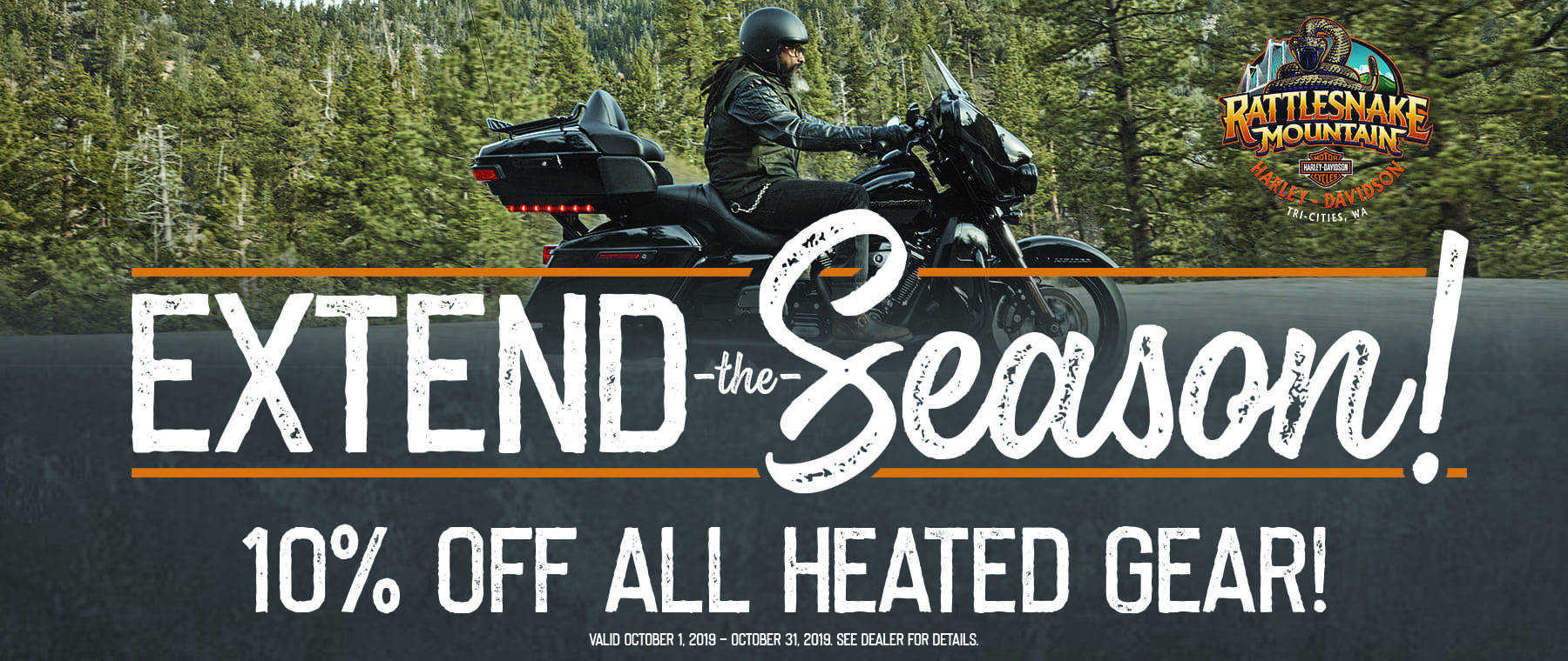 Ride into cooler weather with heated accessories and clothing!