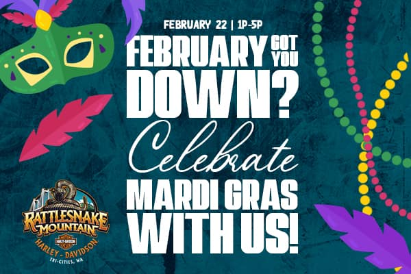 February got you down? Celebrate Mardi Gras with us! Enjoy soulful comfort food and listen to music by Platinum entertainment! Hourly giveaways all day starting at 10!