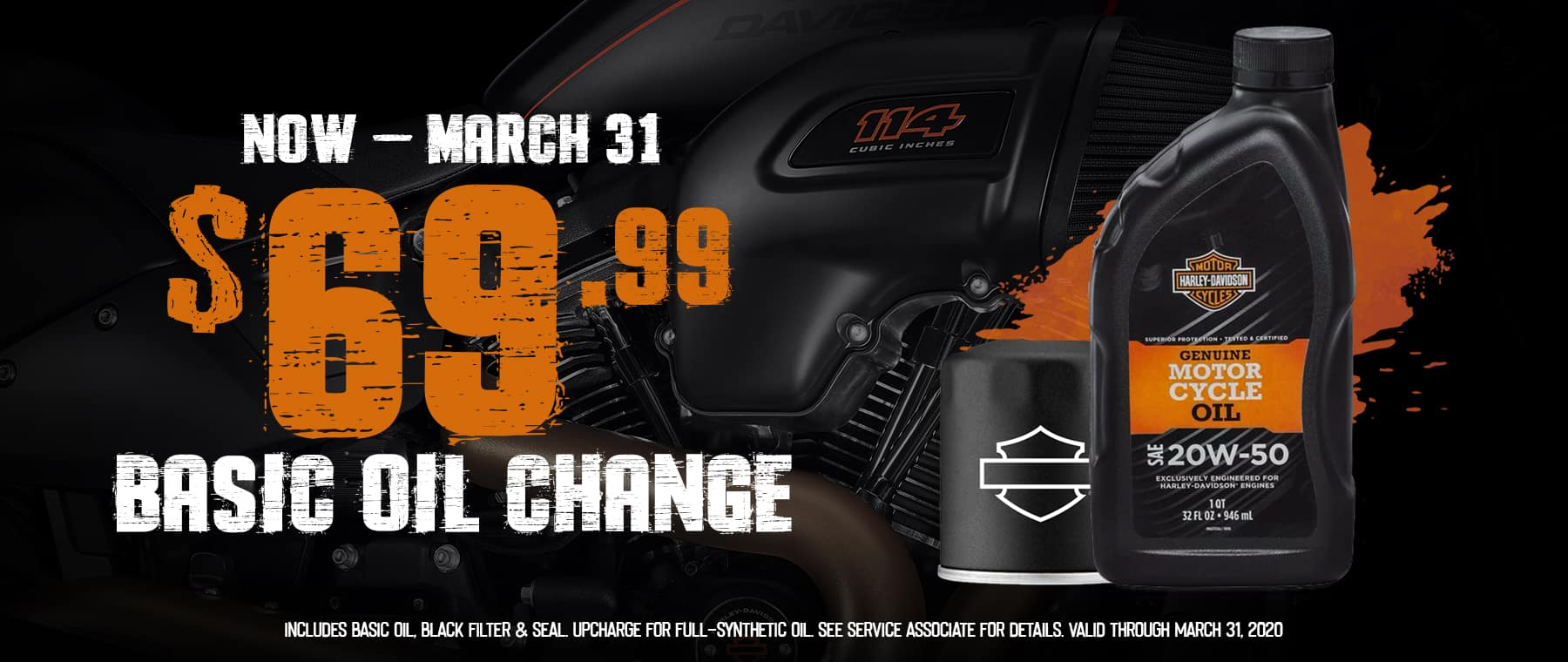 Basic Oil Change only $69.99!