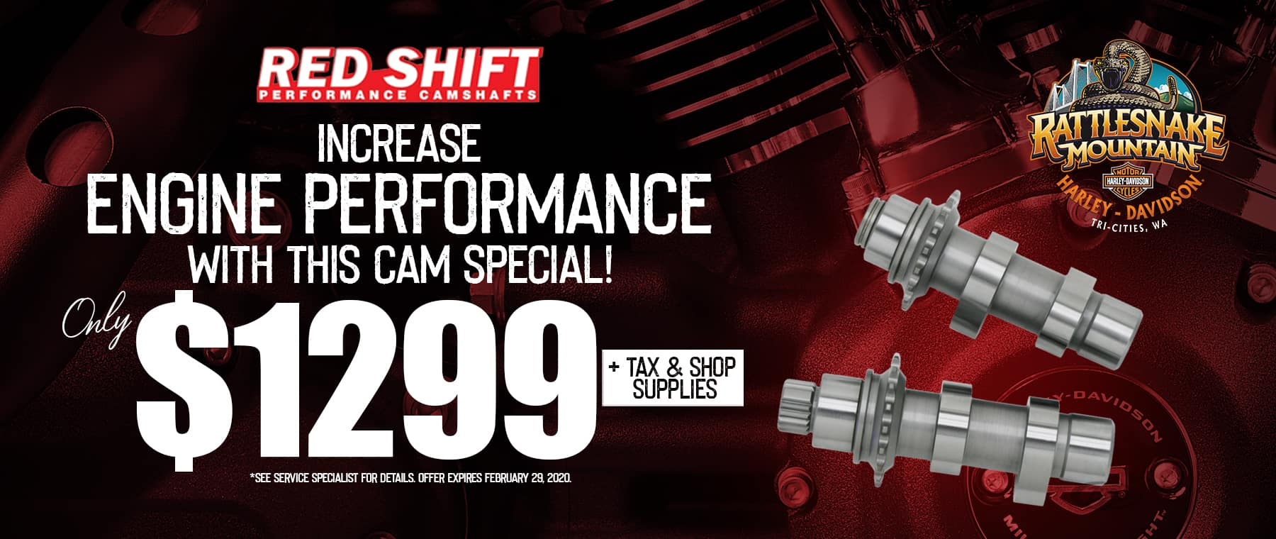 Increase engine performance with this cam special!
