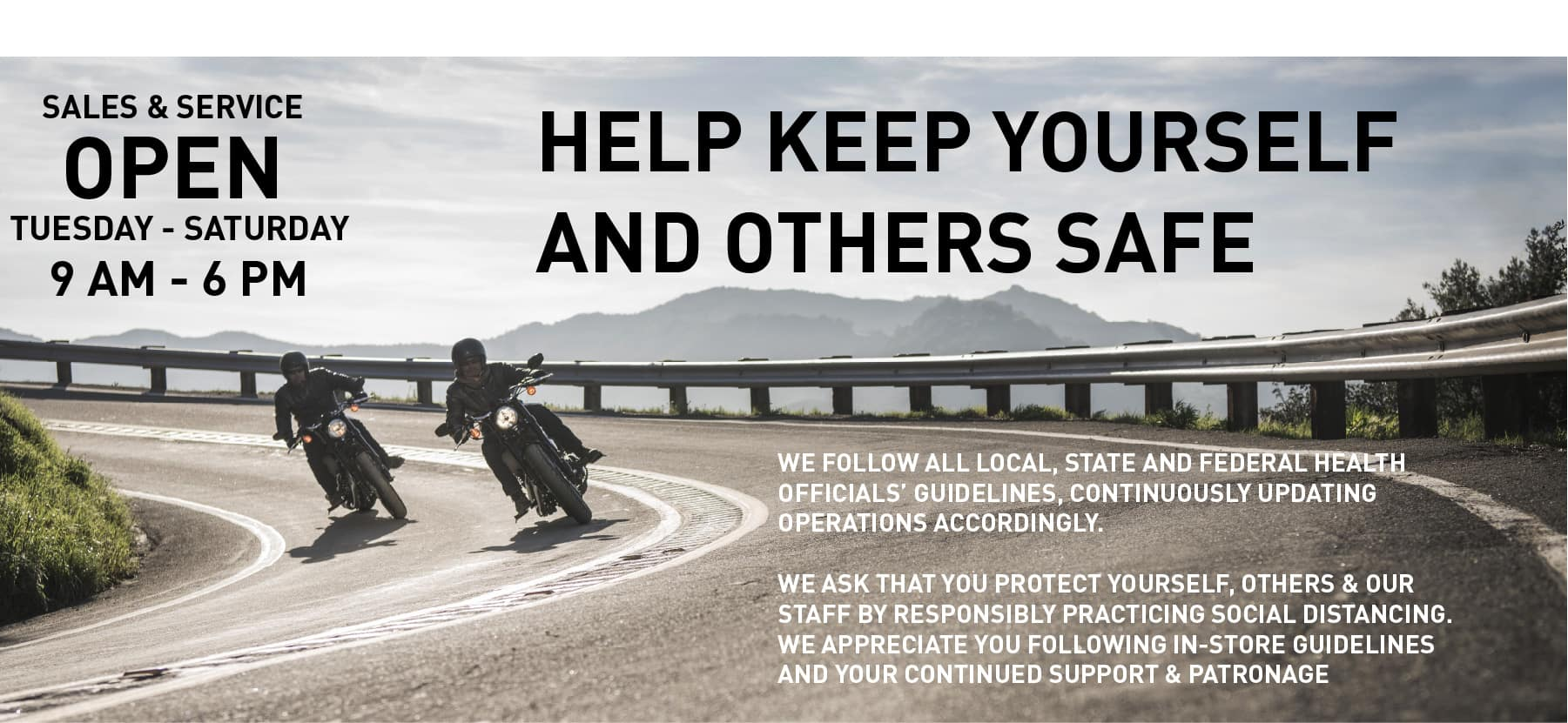 Help keep yourself and others safe