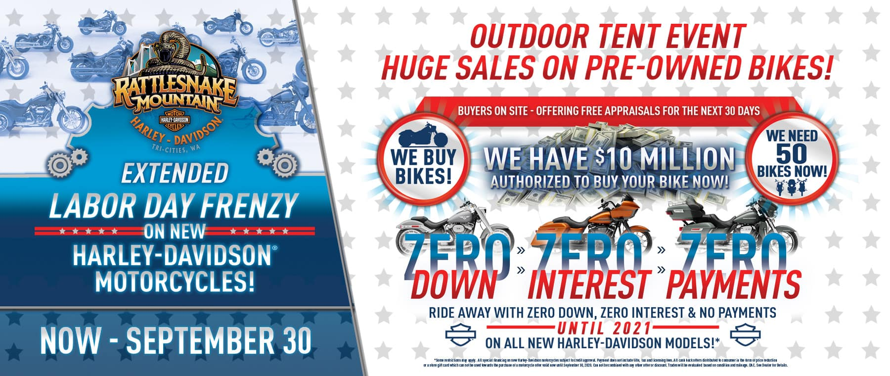 Labor Day Frenzy Extended Through September 30th!