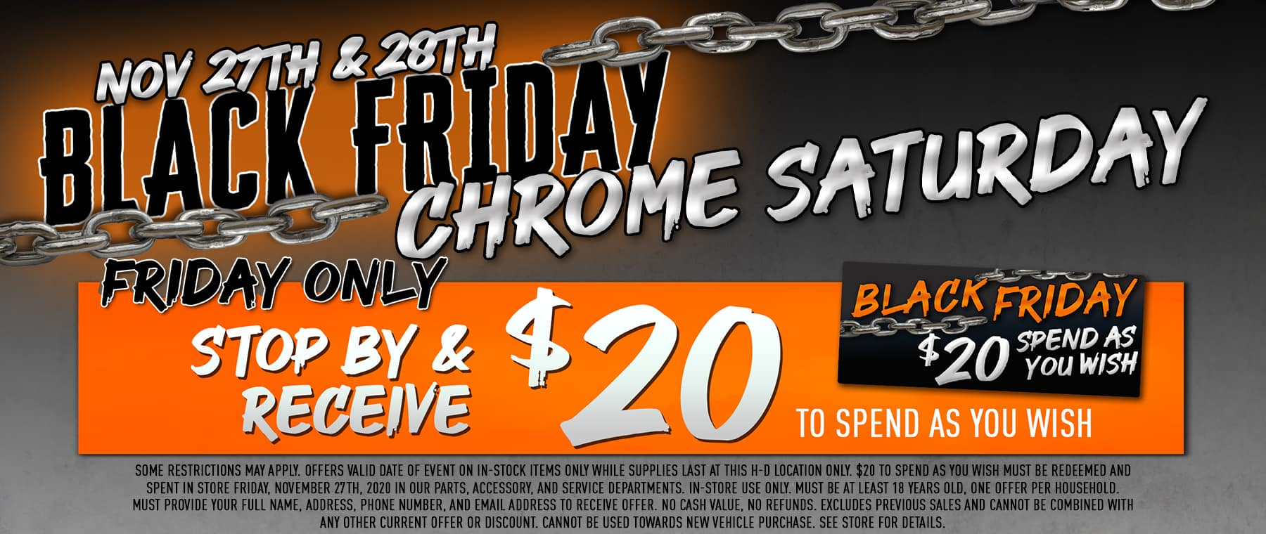 Black Friday / Chrome Saturday!