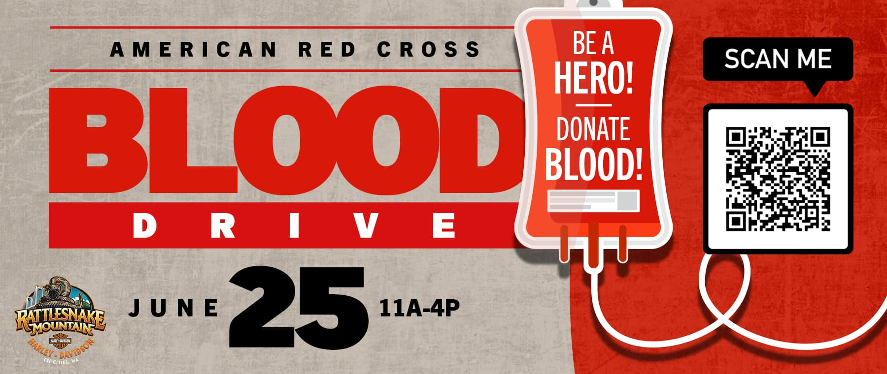 Be a hero! Donate blood!