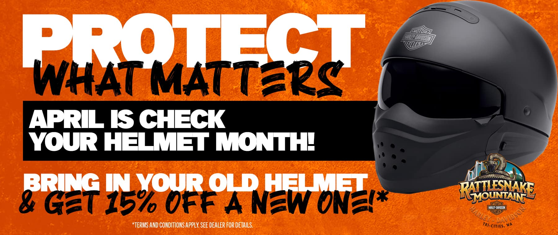 April is helmet month!