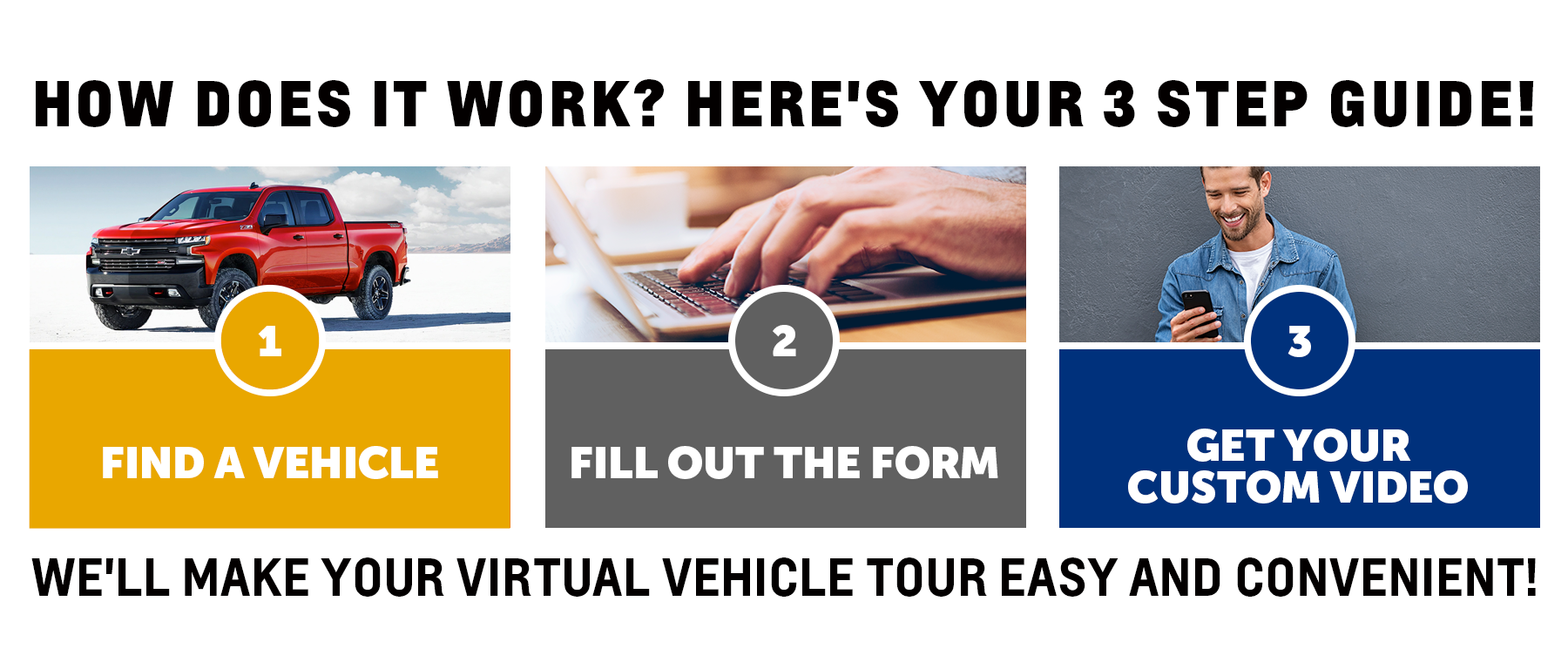 Schedule Your Vehicle Virtual Tour or Walk-Around