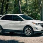 2020 chevrolet equinox white exterior parked outside