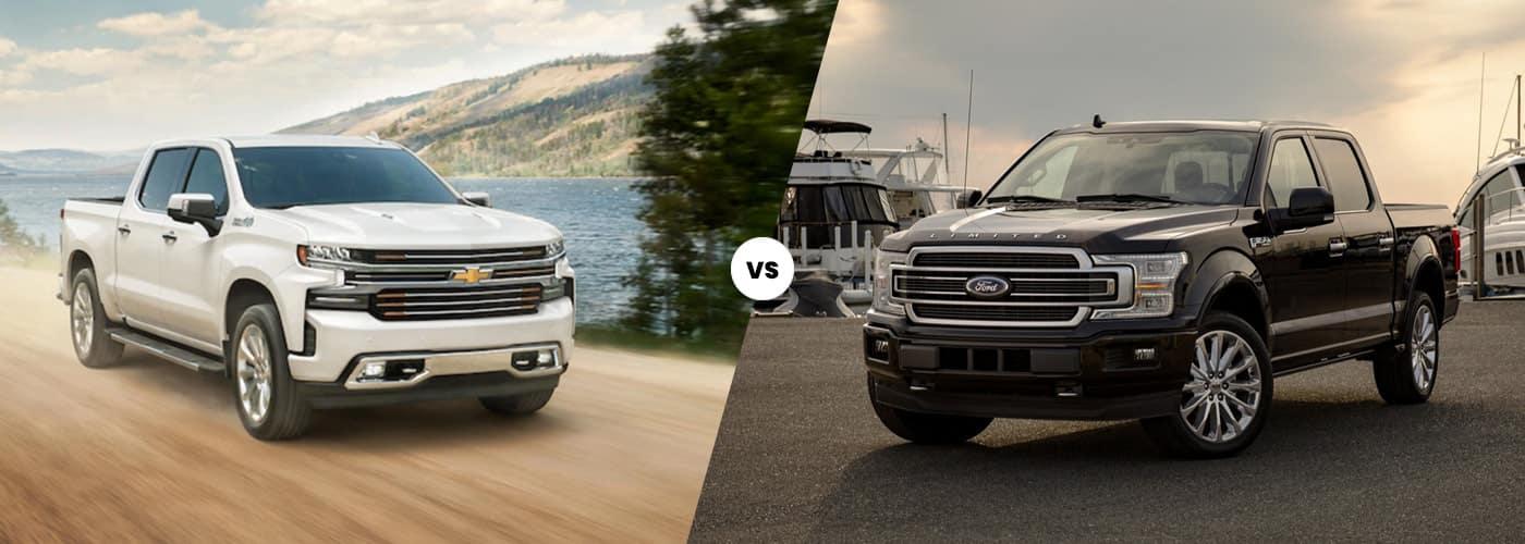 2020 chevy silverado 1500 vs 2020 ford f 150 comparison image