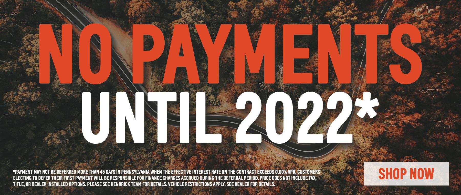 no payments until 2022