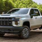 2020 chevy silverado 2500 hd silver exterior parked outside in work site