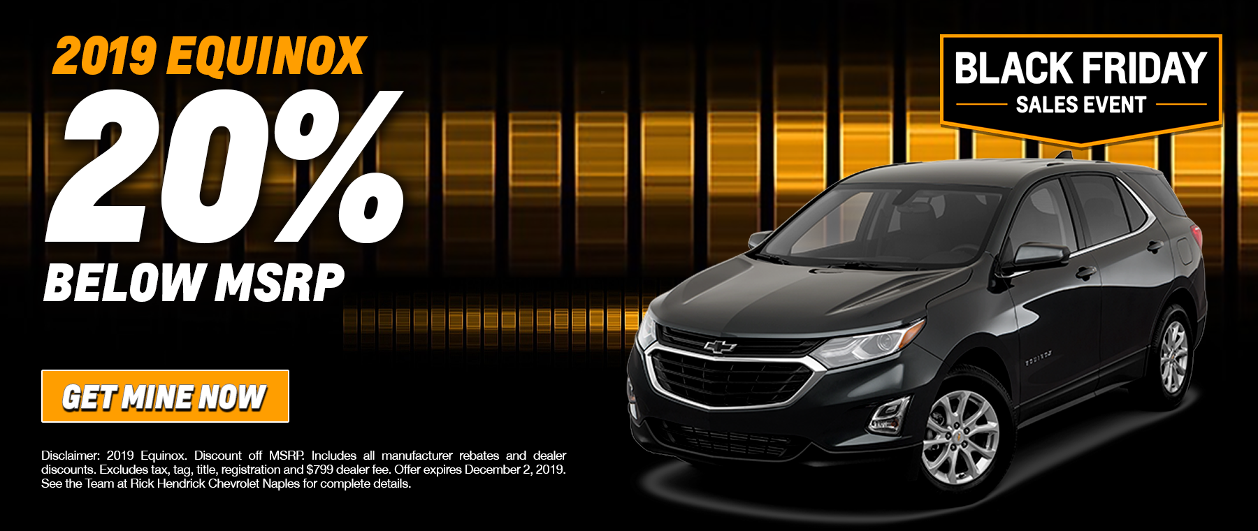 equinox special 20% below msrp chevy naples
