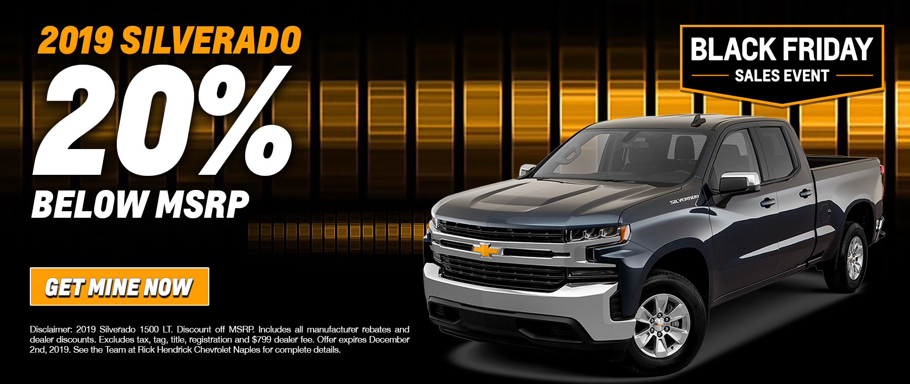 2019 Silverado 20% below msrp special