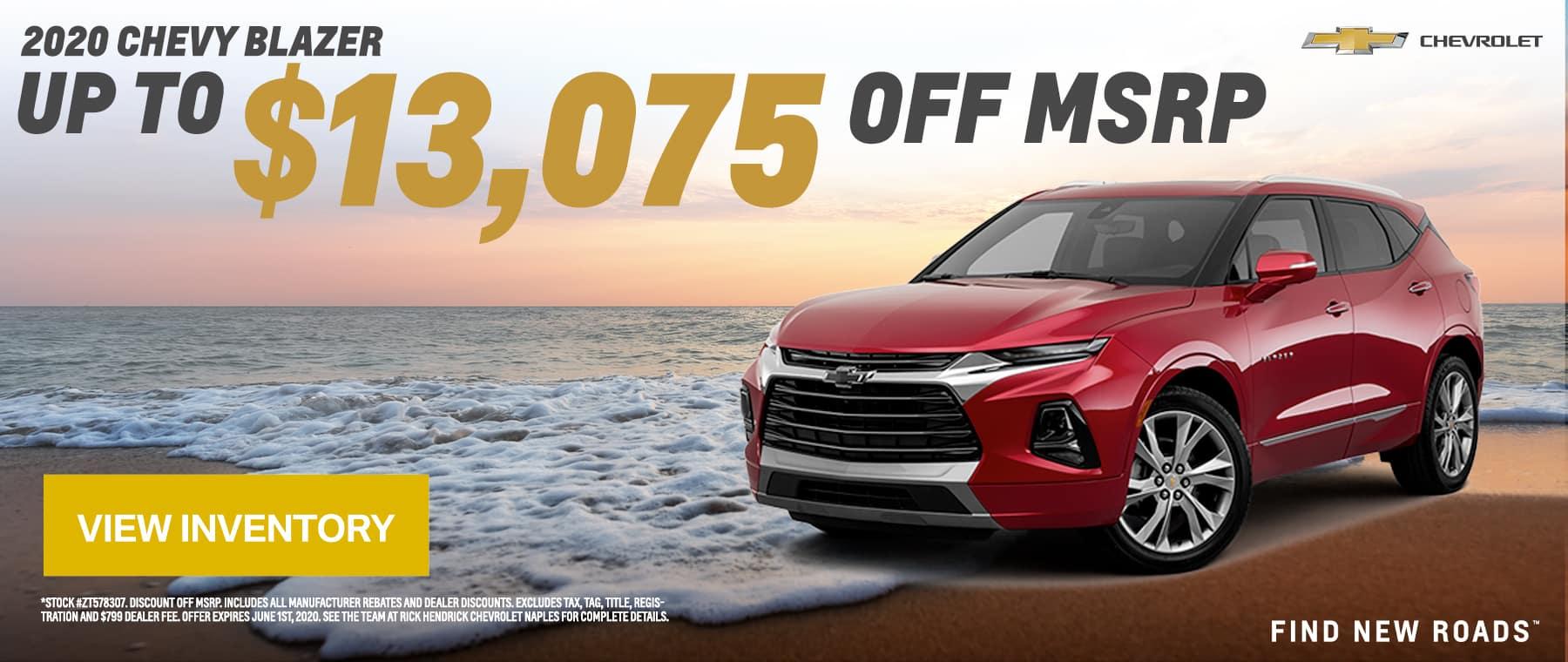 2020 blazer offer may 2020 $13,075 off MSRP