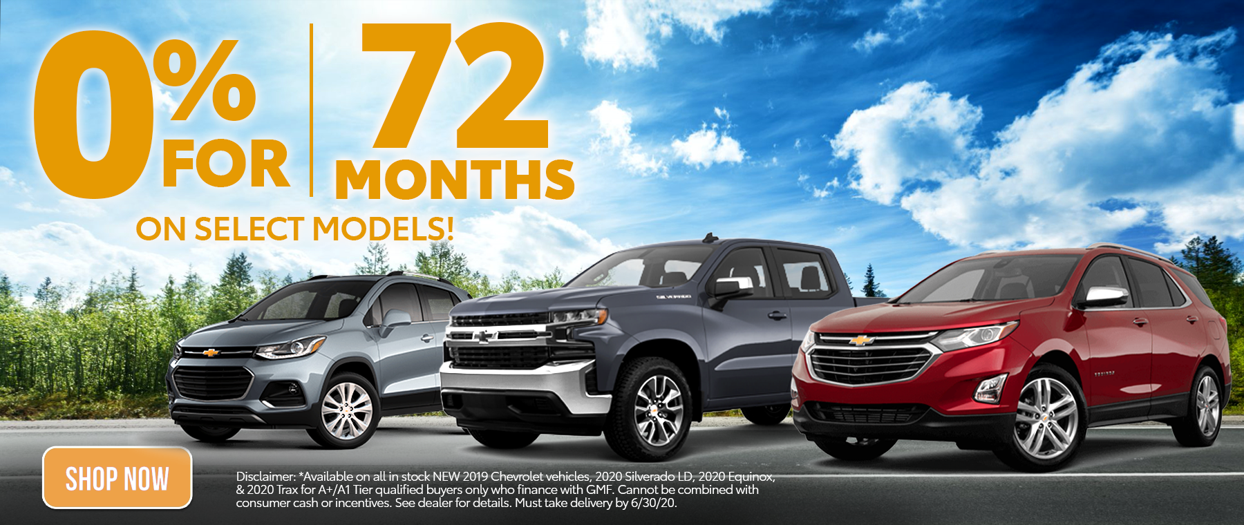 0% APR for 72 Months June 2020 Offer