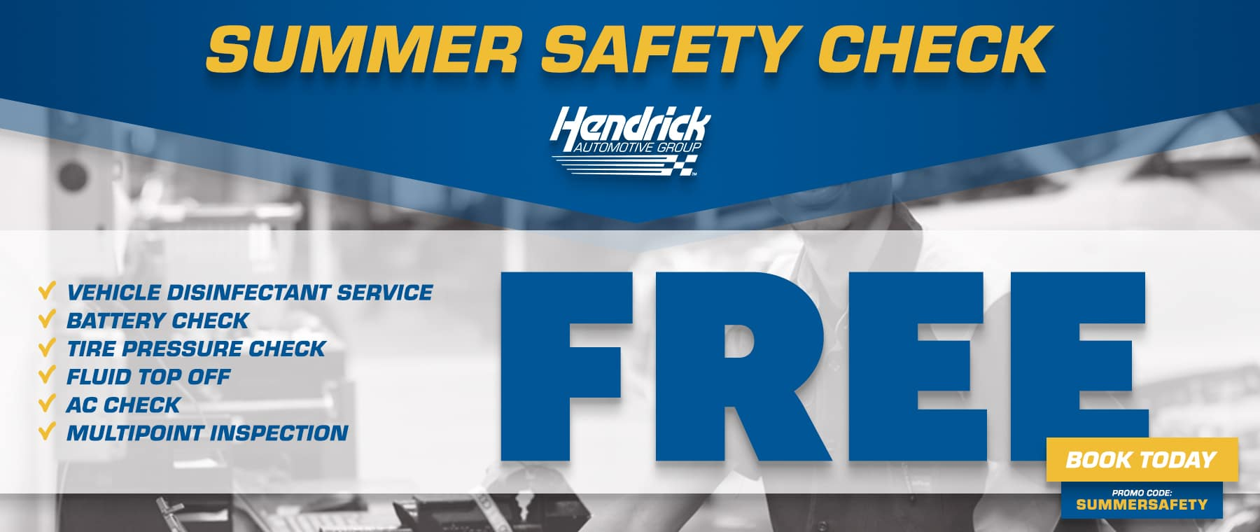 summer safety check get your vehicle serviced today!