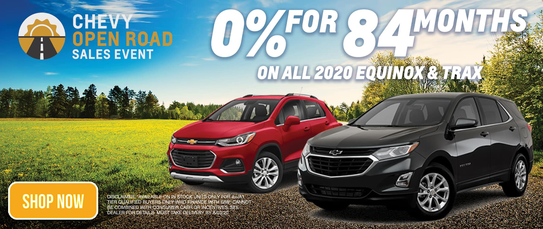 0% for 84 months on equinox and trax