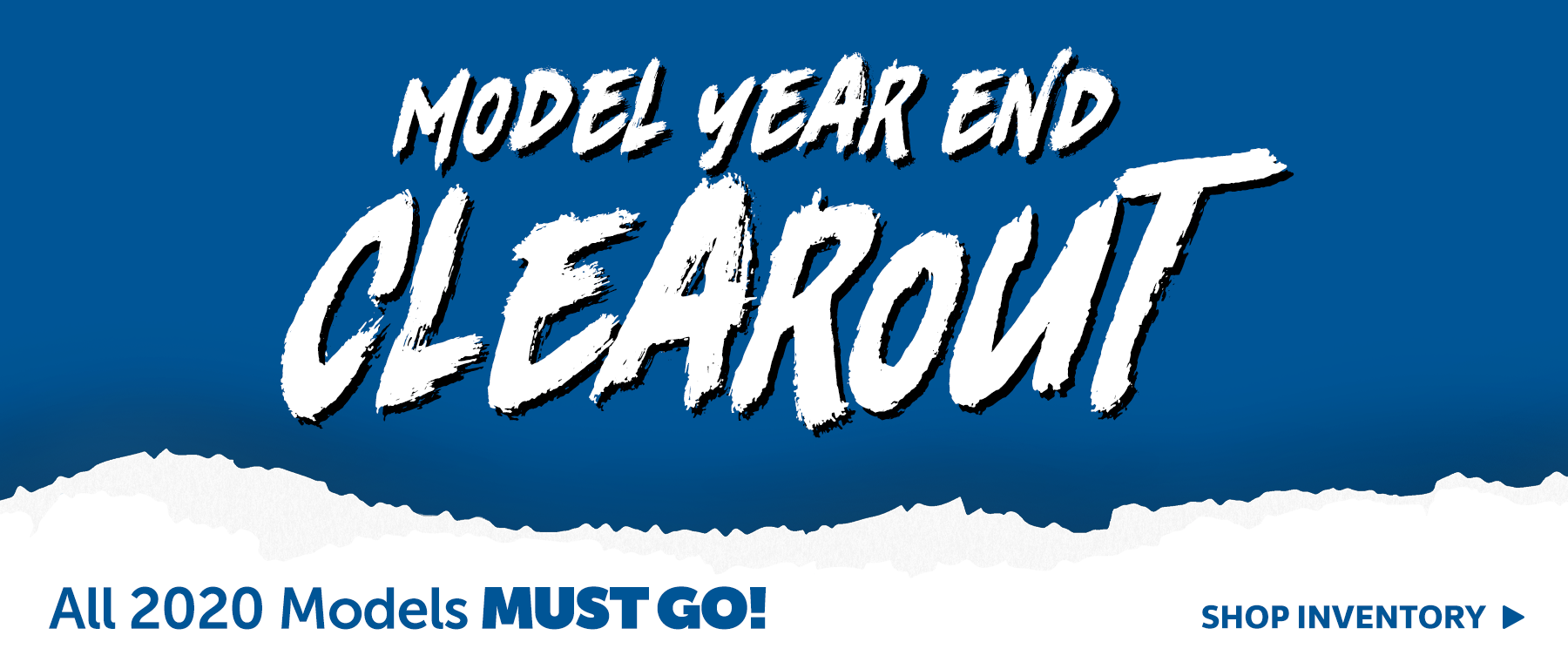 2020 Model Year End Clear Out