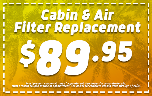 Cabin & Air Filter Replacement