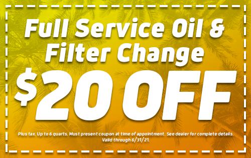 $20 Off Full Service Oil & Filter Change