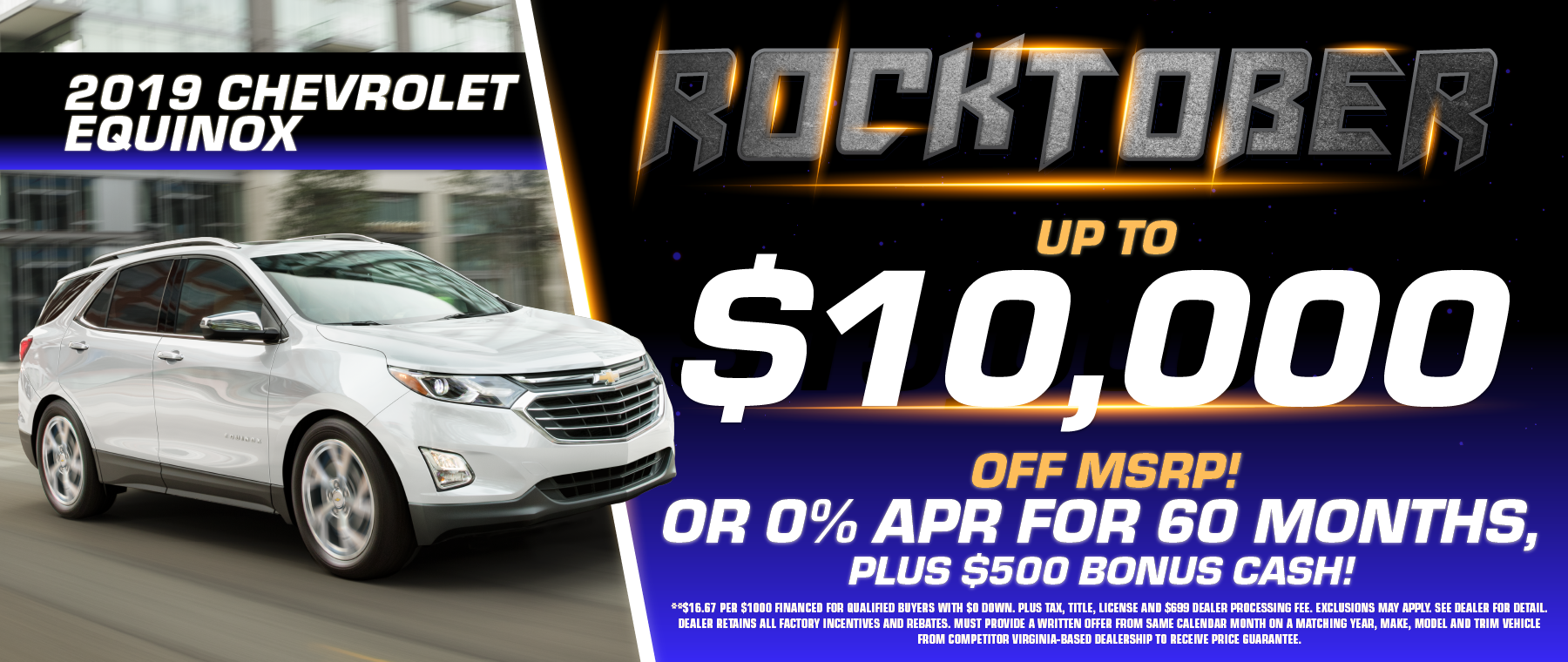 2019 Chevy Equinox offer and discount!