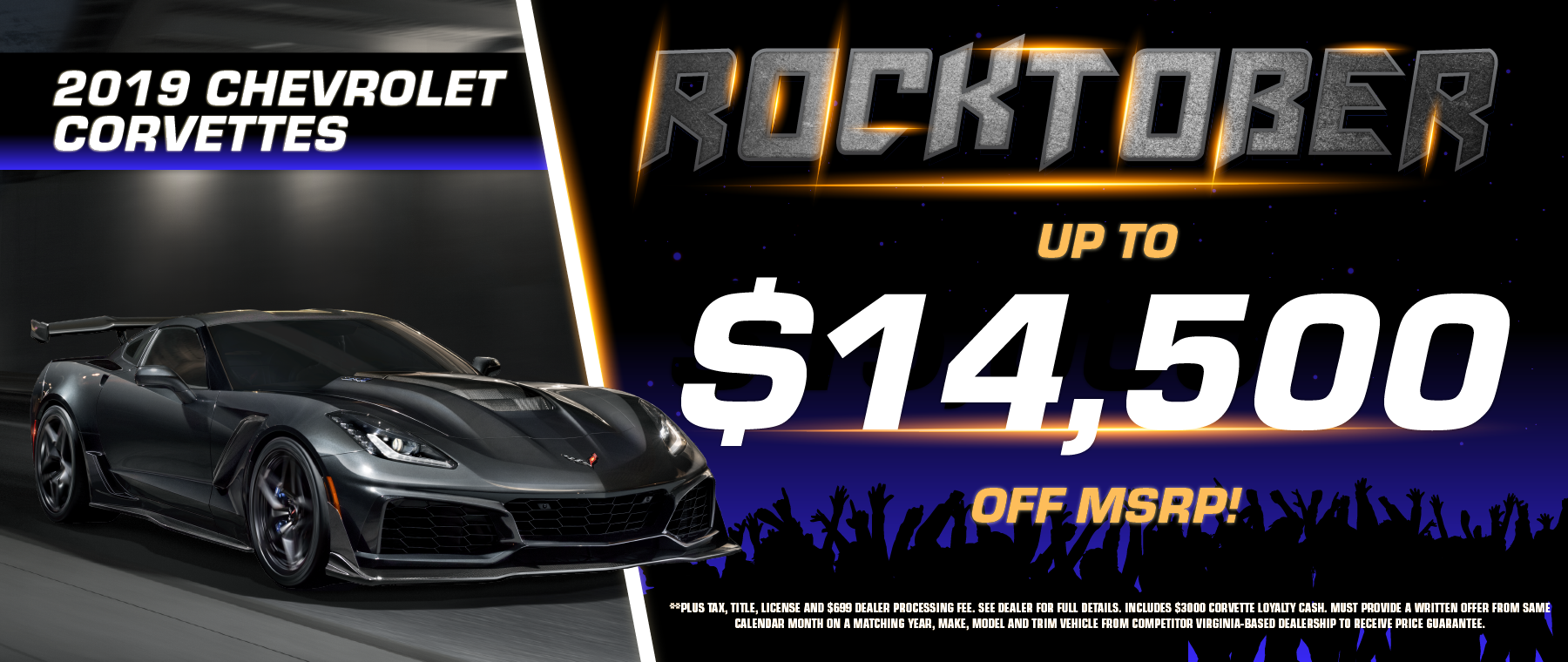 2019 Chevrolet Corvettes with up to $14,500 off!