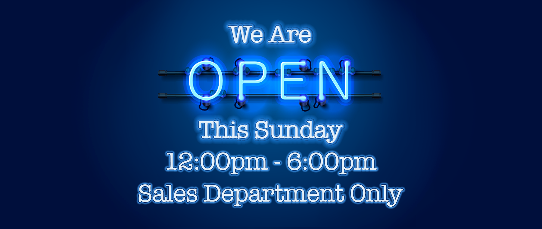 Open Sunday!