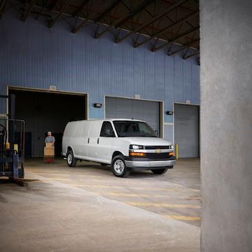 Commercial Van at Loading Dock
