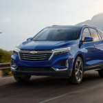 2022 chevy equinox blue exterior driving
