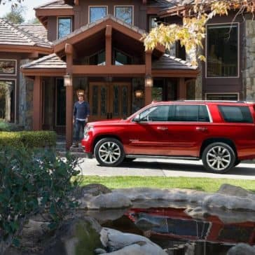 2019 Chevy Tahoe In Driveway