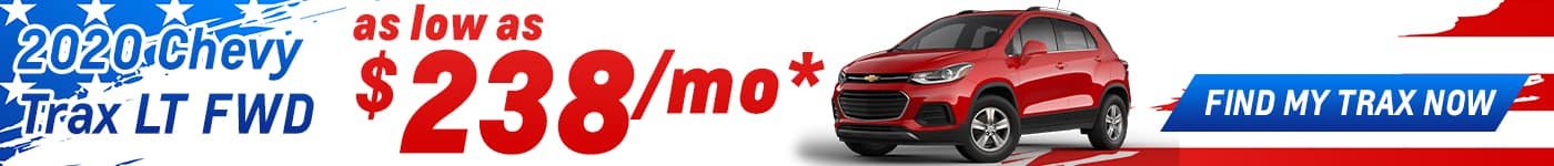 lease a trax for as low as $238/mo. for 36 mos. june offer