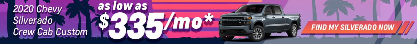2020 silverado as low as 335/mo. for 36 mos. june special