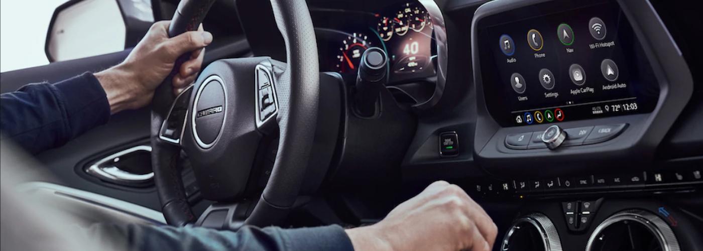 2020 chevy camaro interior dashboard view close up