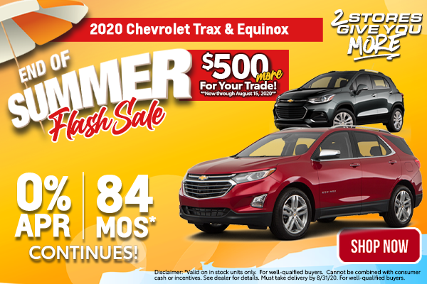 Chevy Trax & Equinox August Special