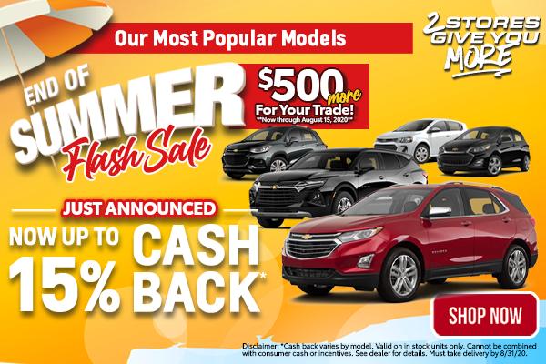 End of Summer Flash Sale