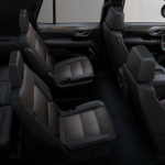 2021 chevy tahoe black leather interior side view entire cabin