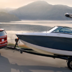 2021 chevy tahoe red exterior towing boat
