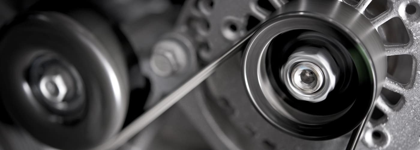 car alternator zoomed in