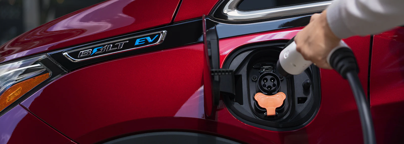 2021 chevy bolt ev being charged