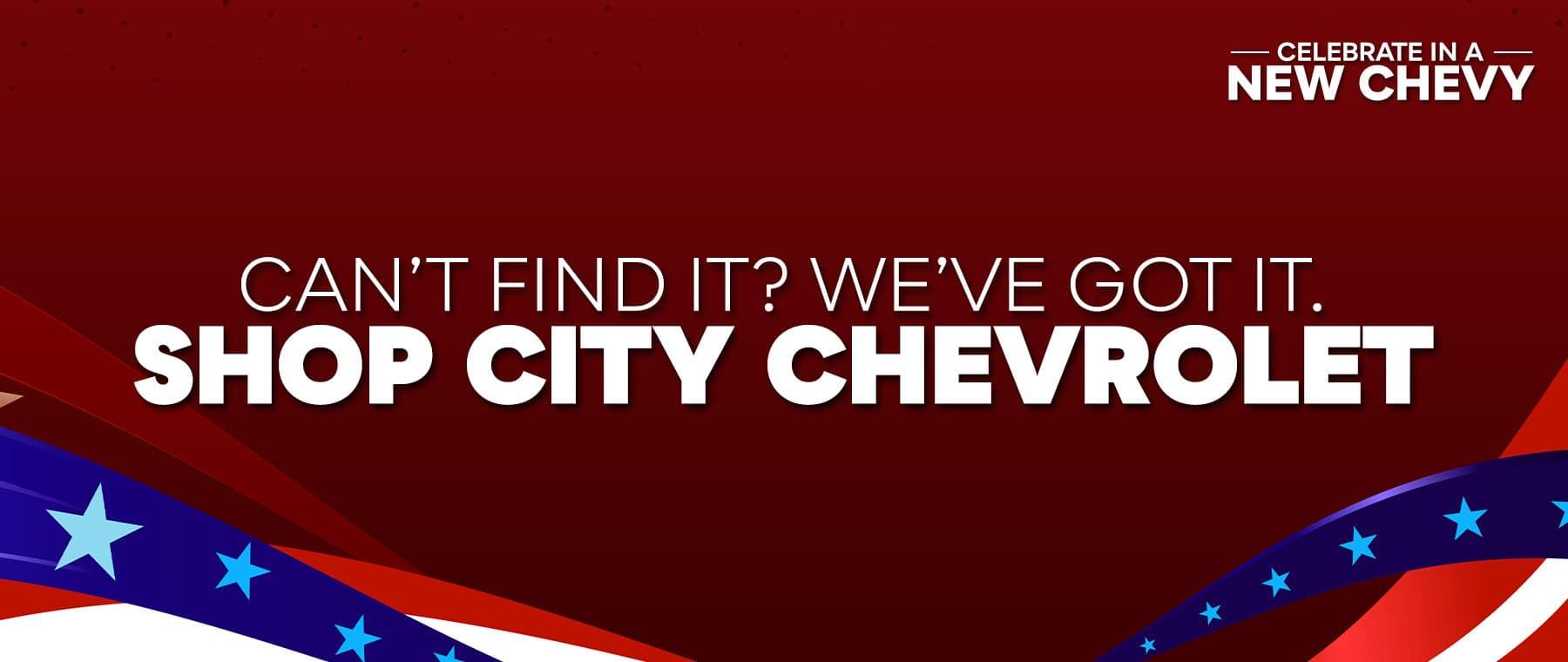 shop at city chevrolet