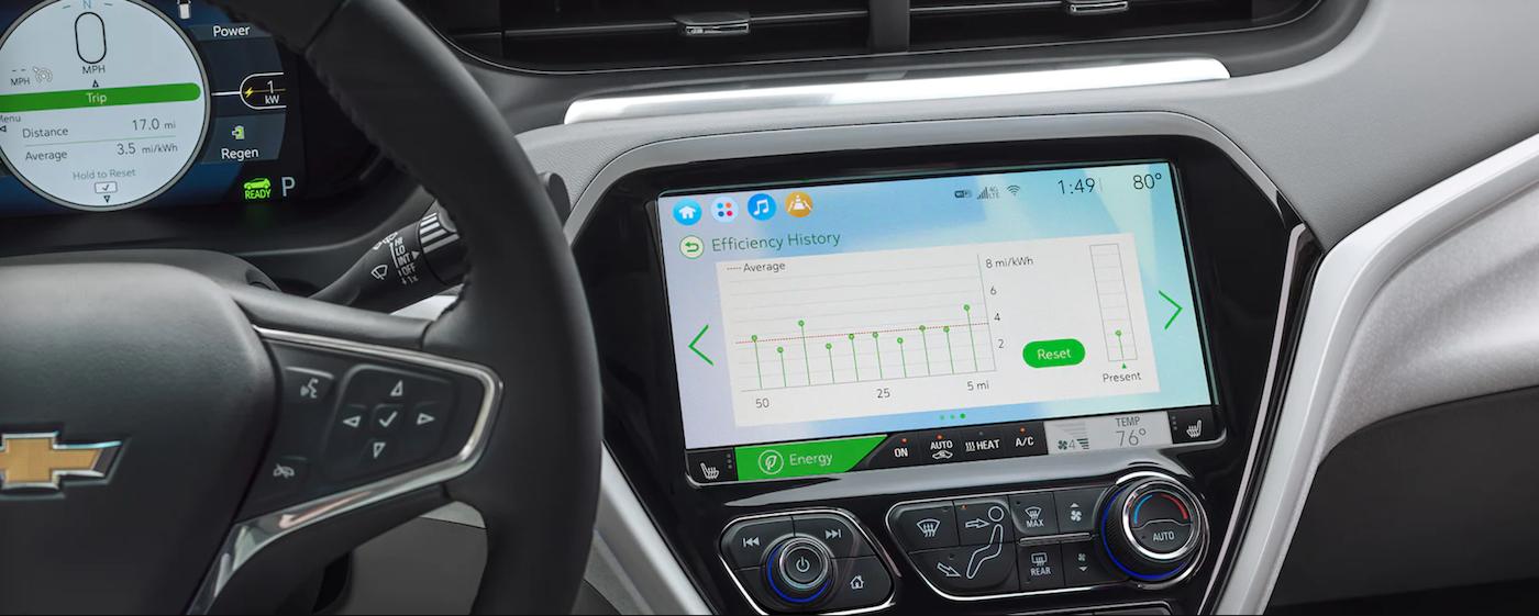 2021 chevy bolt ev efficiency dashboard