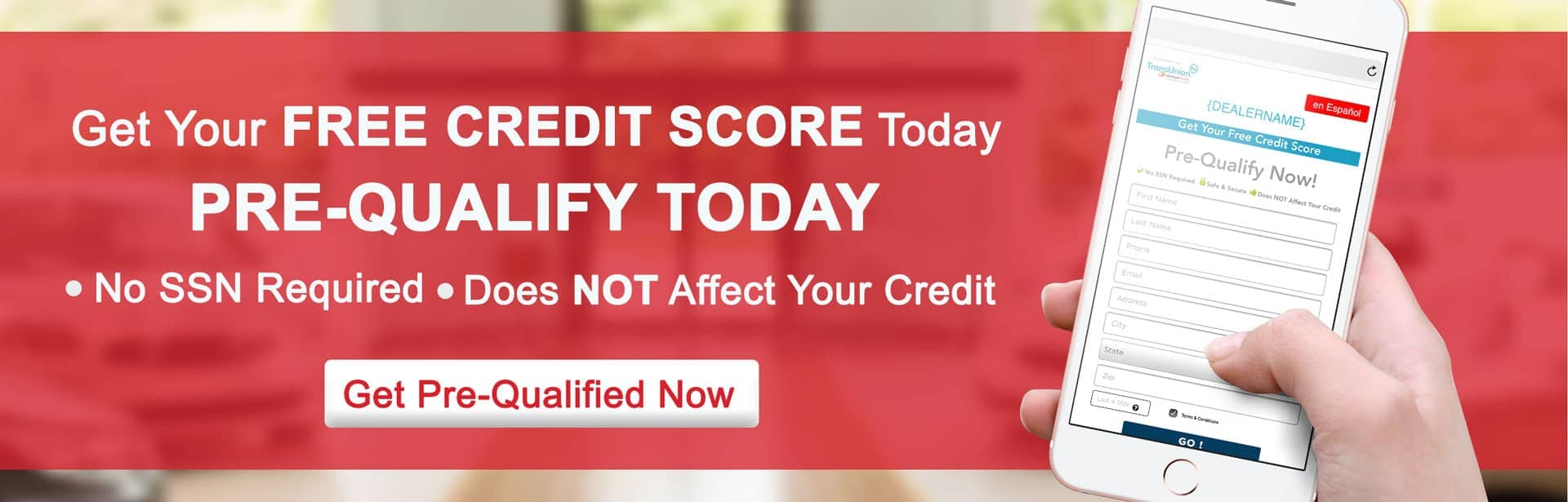 Get Your Free Credit Score Today Banner