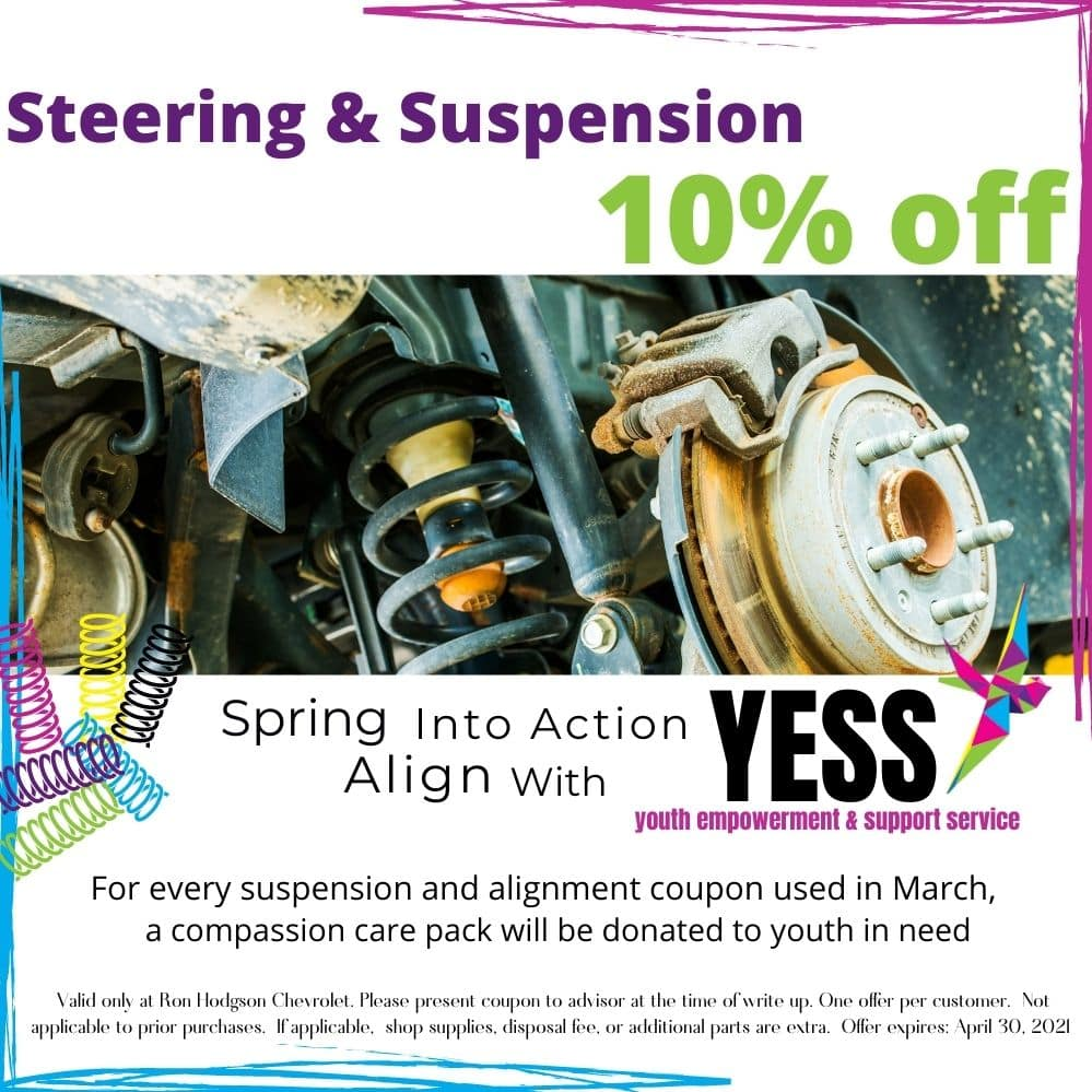 Steering, suspension, YESS, spring, coupon
