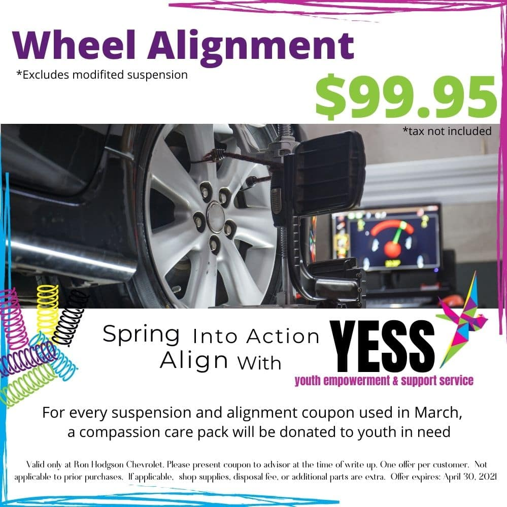 Wheel Alignment, march, coupon, tire, wheel, YESS, Spring
