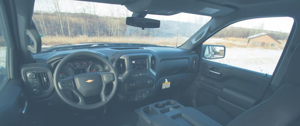 Inside view of the 2020 Chevy 1500