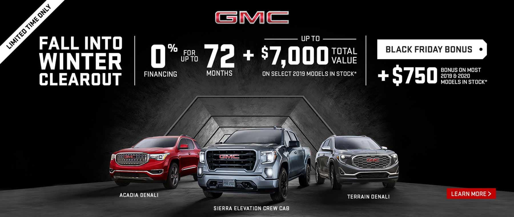 GMC Fall Into Winter Clearance