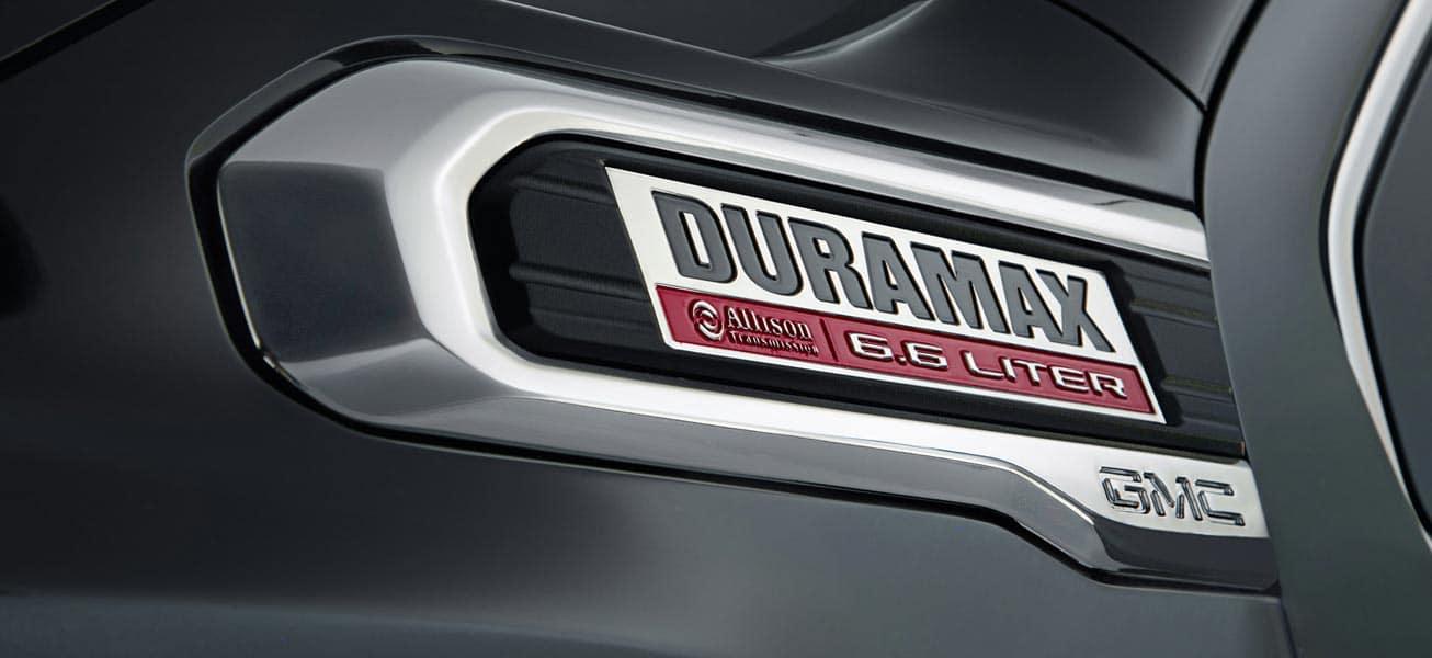 2020 GMC Sierra 2500HD Duramax Diesel badge